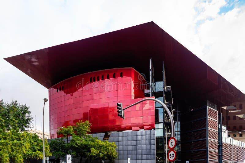 Opinión exterior Reina Sofia Museum en Madrid imagen de archivo