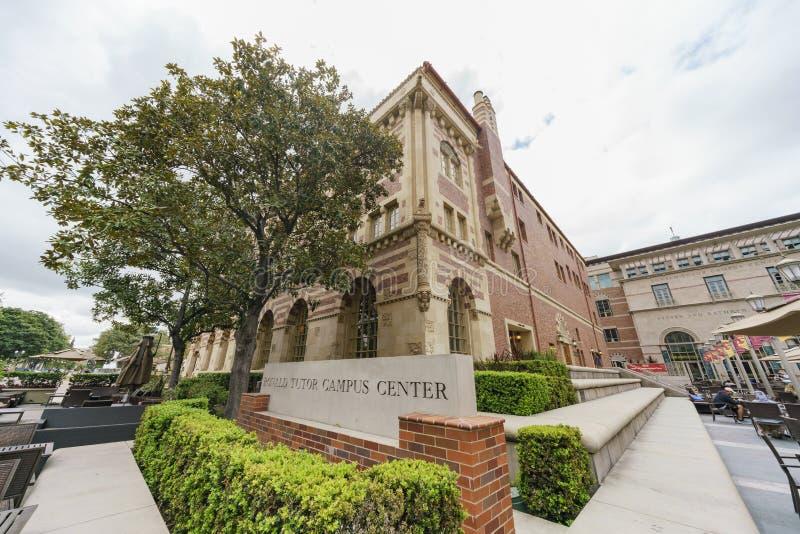 Opinión exterior Ronald Tutor Campus Center de USC fotografía de archivo libre de regalías