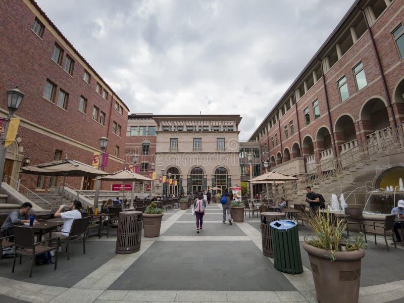 Opinión exterior Ronald Tutor Campus Center de USC foto de archivo libre de regalías