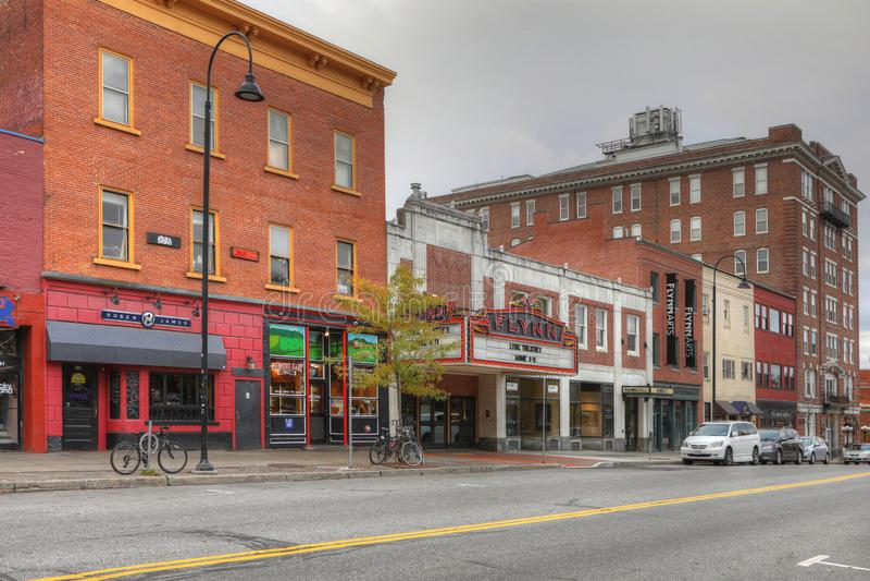 Opinión Flynn Theater en Burlington, Vermont foto de archivo libre de regalías