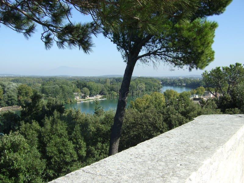 Opinión francesa del río del fuerte de la ciudad fotos de archivo libres de regalías