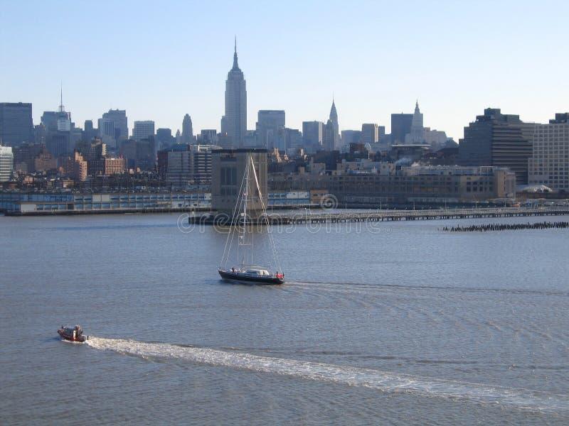 Opinión general de New York City Manhattan foto de archivo libre de regalías
