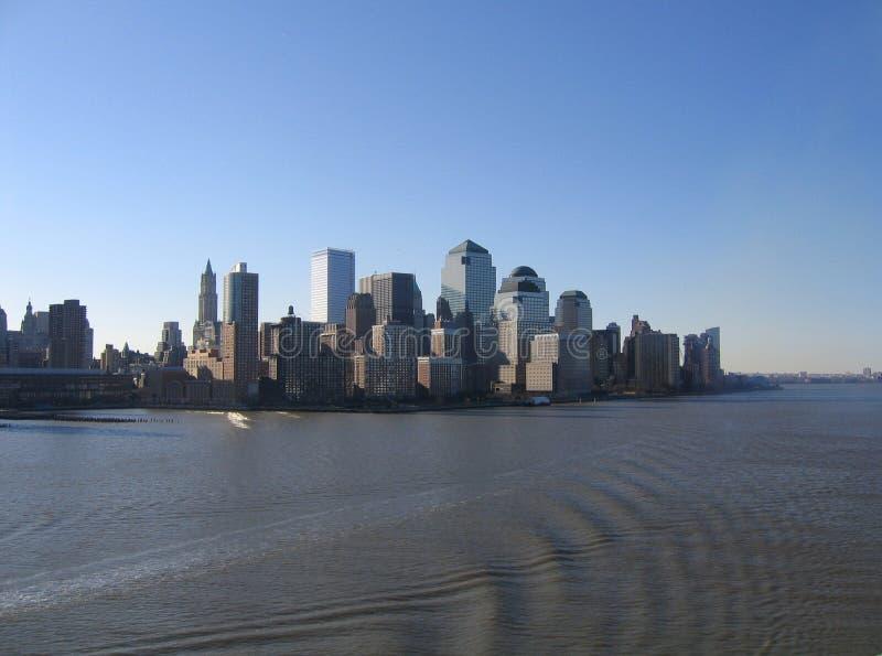 Opinión general de New York City Manhattan fotos de archivo libres de regalías
