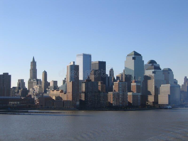 Opinión general de New York City Manhattan foto de archivo