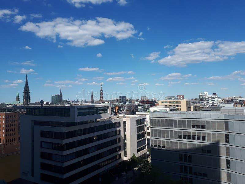 Opinión Hamburgo de Elbphilharmonie foto de archivo