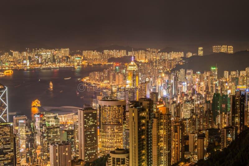 Opinión Hong Kong durante fotos de archivo