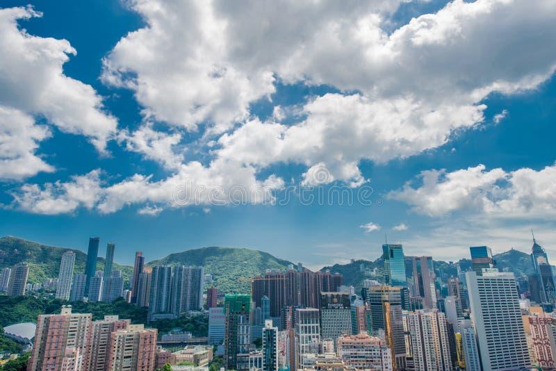 Opinión Hong Kong durante día soleado fotos de archivo