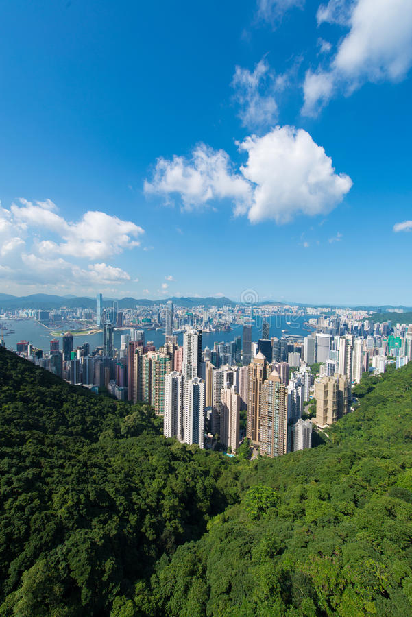 Opinión Hong Kong durante el día foto de archivo libre de regalías