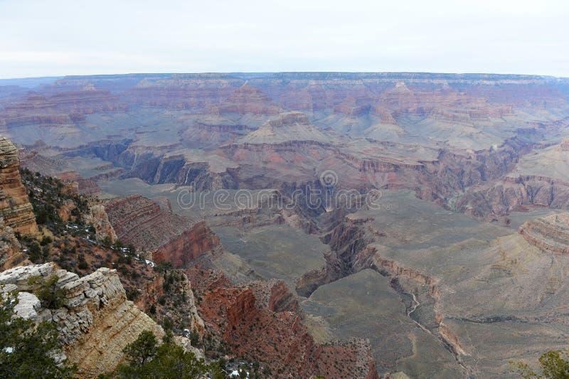 Opinión horizontal del parque nacional de Grand Canyon en Arizona foto de archivo libre de regalías