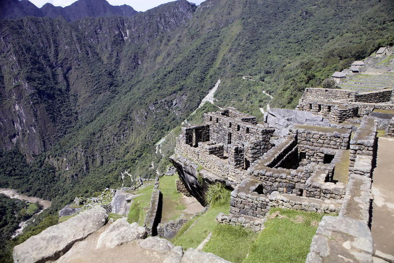 Opinión Inca City antiguo de Machu Picchu, Perú fotografía de archivo