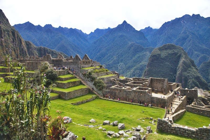 Opinión Inca City antiguo de Machu Picchu, Perú foto de archivo libre de regalías