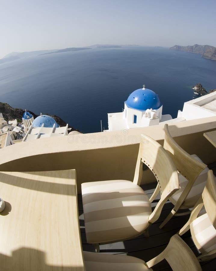 Opinión increíble de Santorini fotos de archivo