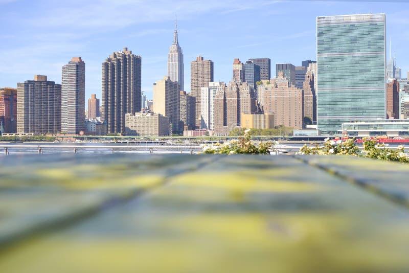 Opinión interesante de Manhattan imagen de archivo