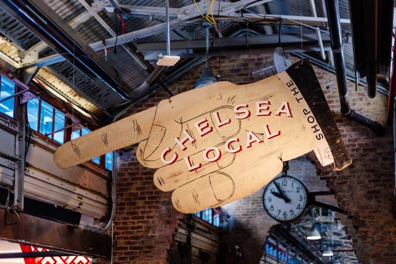 Opinión interior Chelsea Market en Nueva York imagenes de archivo