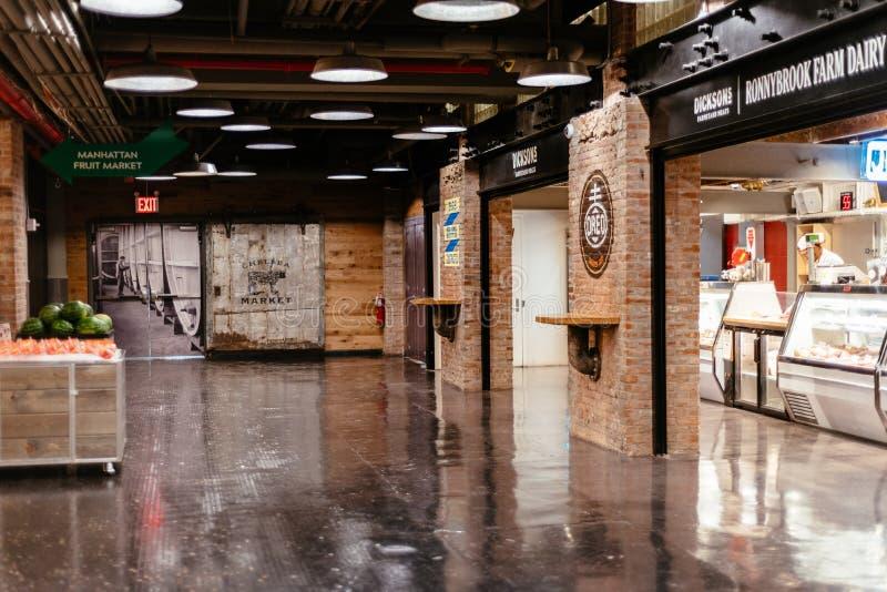 Opinión interior Chelsea Market en Nueva York fotos de archivo libres de regalías