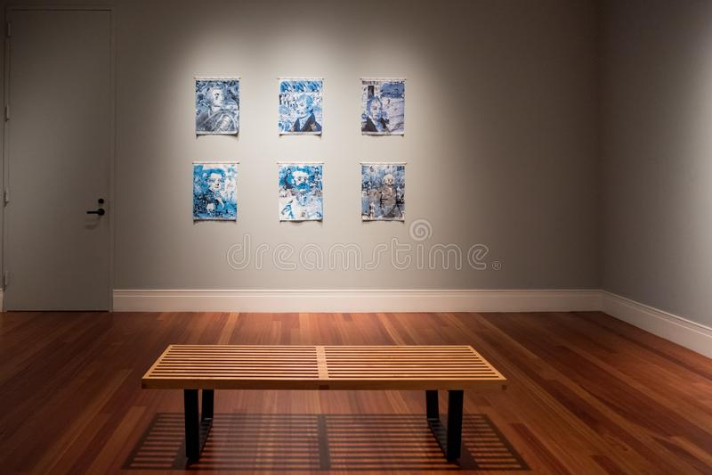 Opinión interior Ogden Museum hermoso fotos de archivo libres de regalías