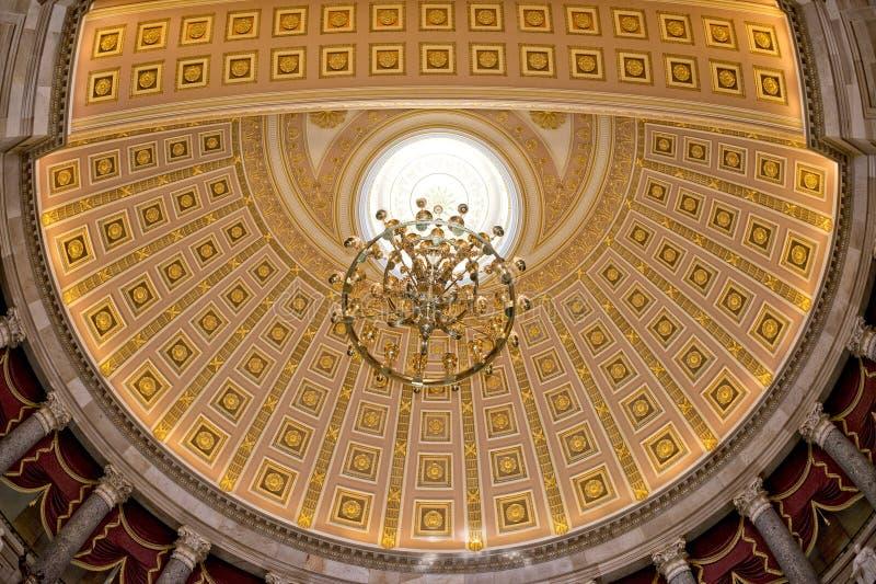 Opinión interna de la bóveda del capitol de Washington imagen de archivo libre de regalías
