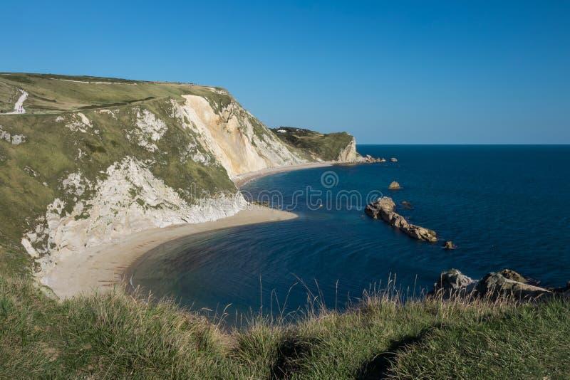 Opinión jurásica de la costa foto de archivo