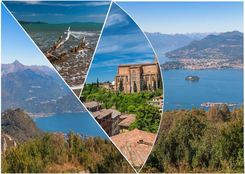 Opinión Lago Maggiore imagenes de archivo