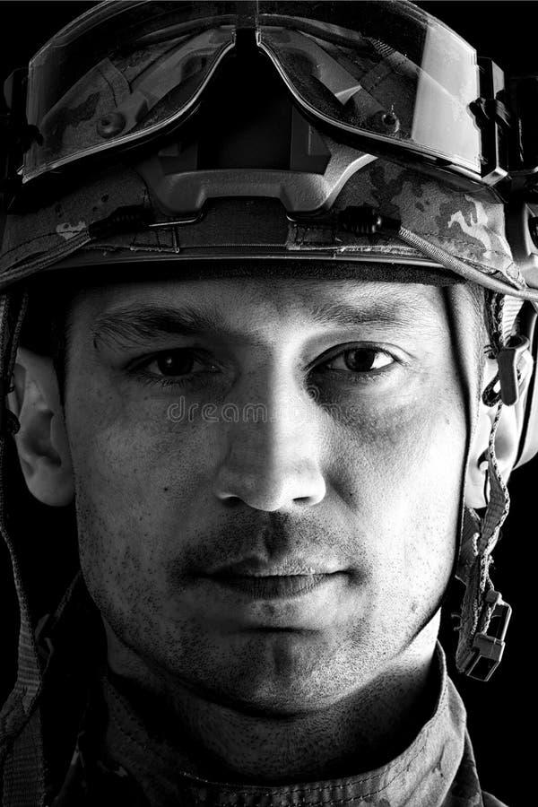 Opinión macra el militar fotos de archivo libres de regalías