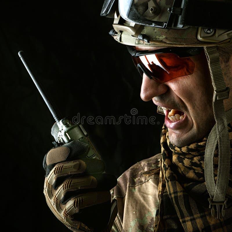 Opinión macra el militar foto de archivo
