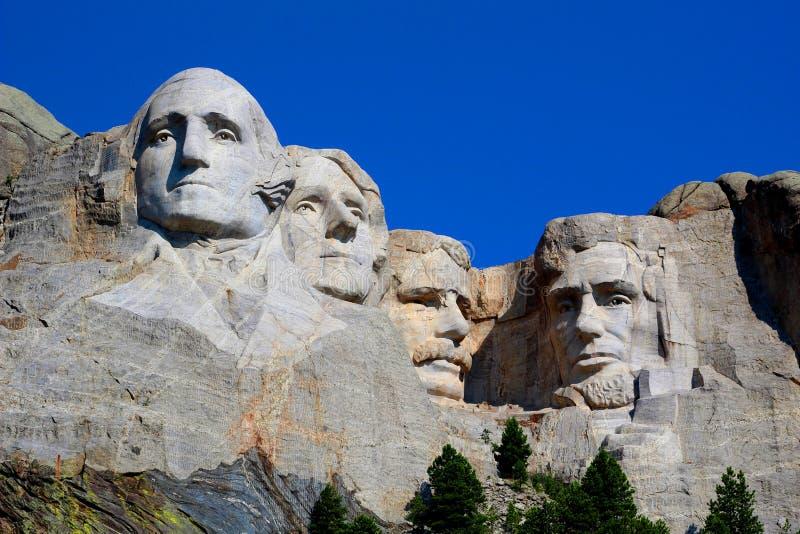 Opinión magnífica conmemorativa nacional del monte Rushmore Rushmore imagen de archivo