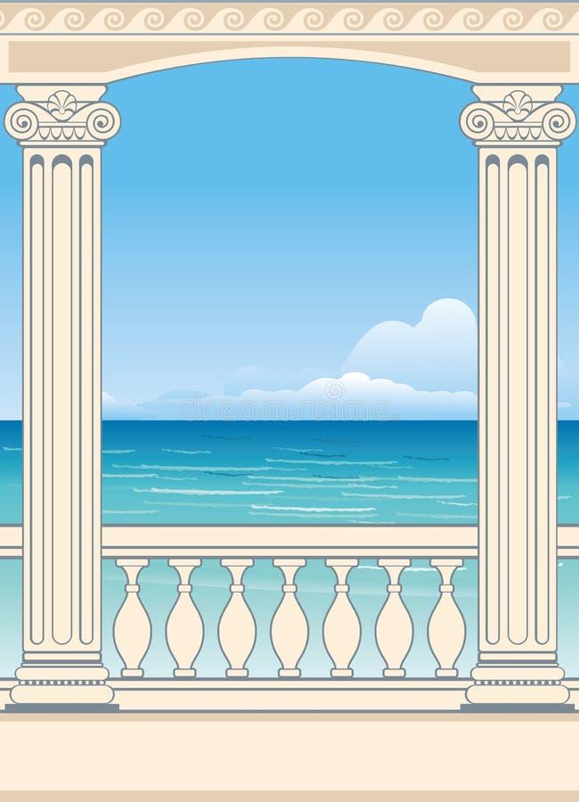 Opinión maravillosa del mar ilustración del vector