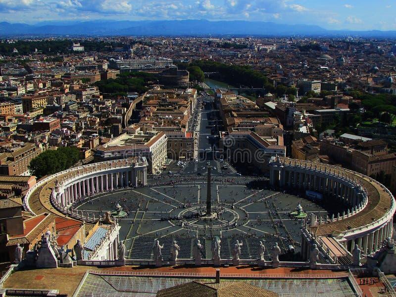 Opinión maravillosa del Vaticano fotografía de archivo libre de regalías