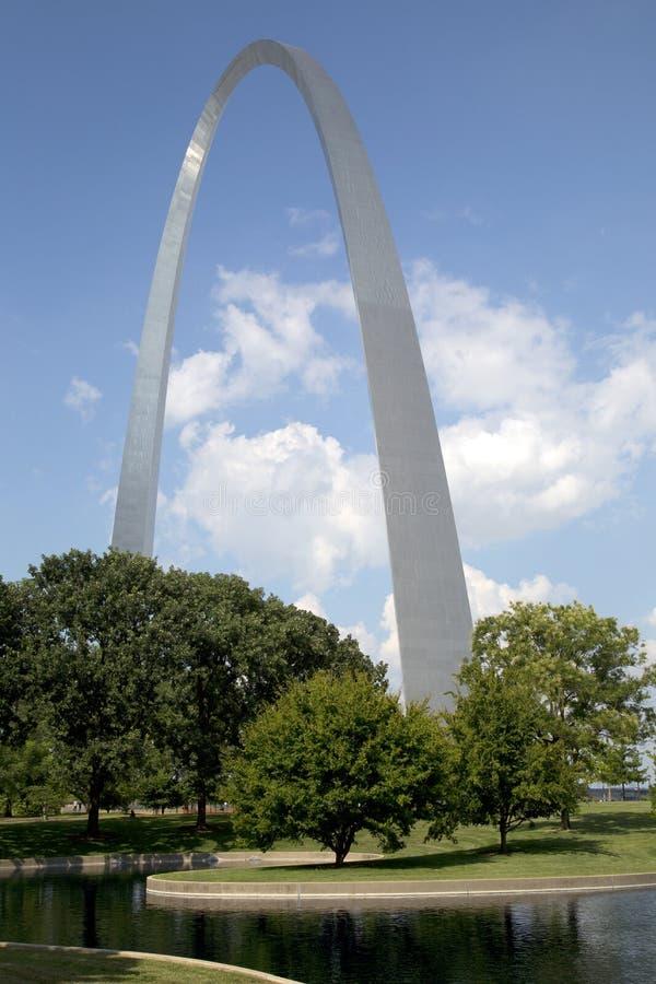 Opinión MES LOS E.E.U.U. del parque de Nationa del arco de la entrada de las señales de St. Louis fotos de archivo