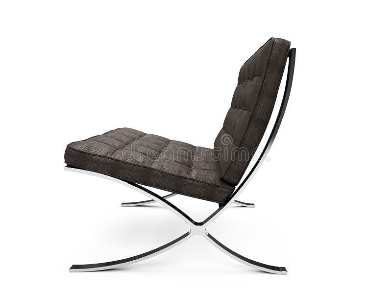 Opinión moderna aislada de los muebles stock de ilustración