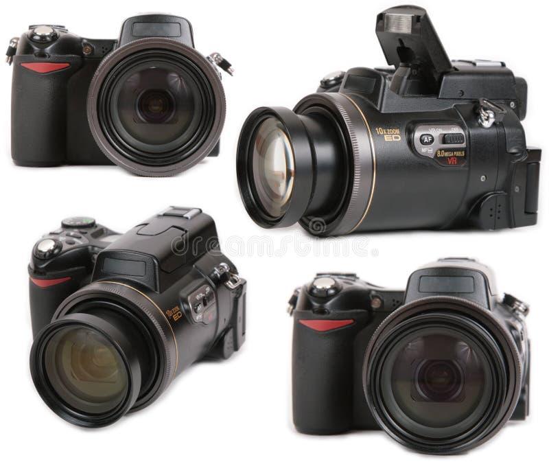 Opinión moderna de las cámaras digitales cuatro de la foto fotos de archivo libres de regalías