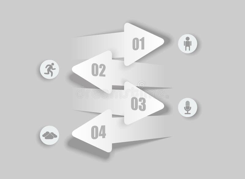 Opinión moderna de las flechas abstractas ilustración del vector