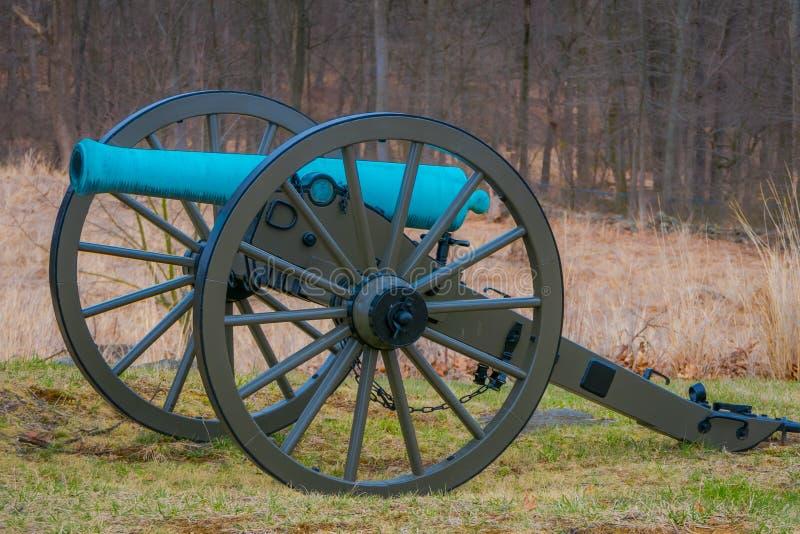 Opinión Napoleon, cañón de 12 libras, situado en un parque del cementerio en el campo de batalla histórico nacional de Gettysburg imagen de archivo libre de regalías