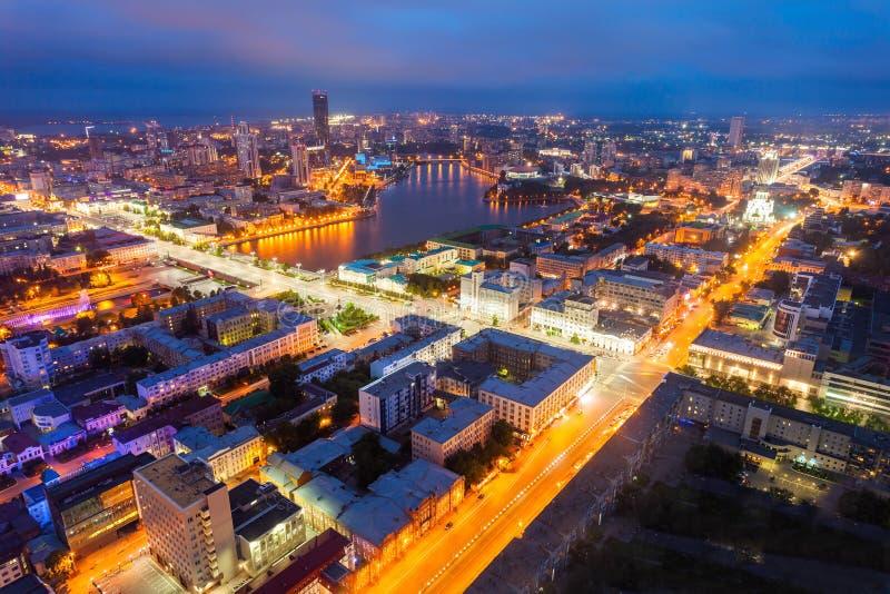 Opinión panorámica aérea de Ekaterimburgo imágenes de archivo libres de regalías