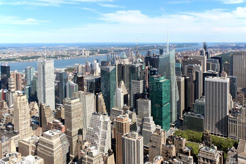 Opinión panorámica aérea de New York City foto de archivo libre de regalías