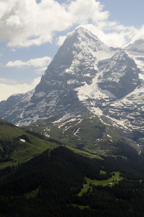 Opinión panorámica de Alpes fotos de archivo libres de regalías