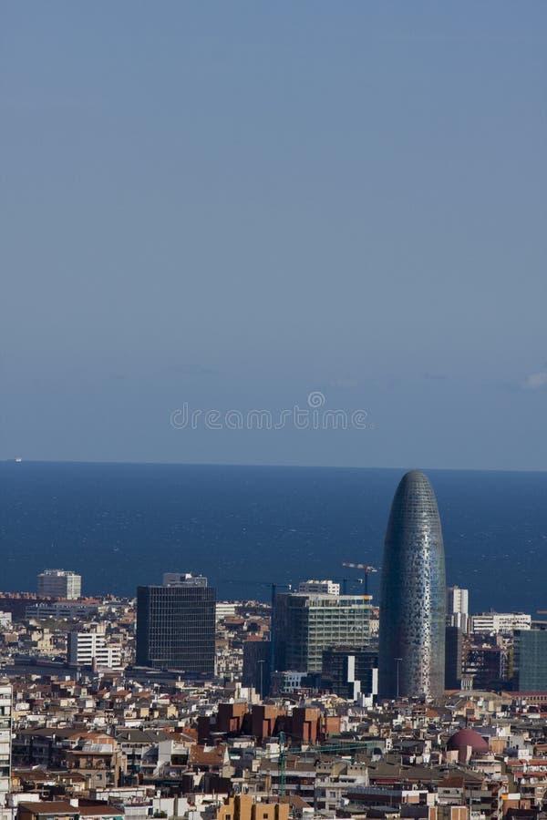 Opinión panorámica de Barcelona imagen de archivo libre de regalías
