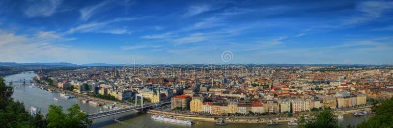 Opinión panorámica de Budapest el parásito foto de archivo