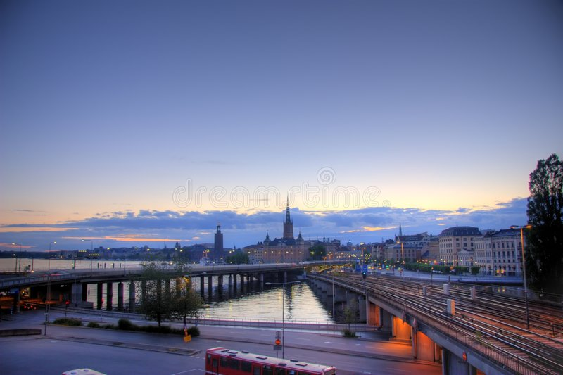 Opinión panorámica de Estocolmo fotos de archivo