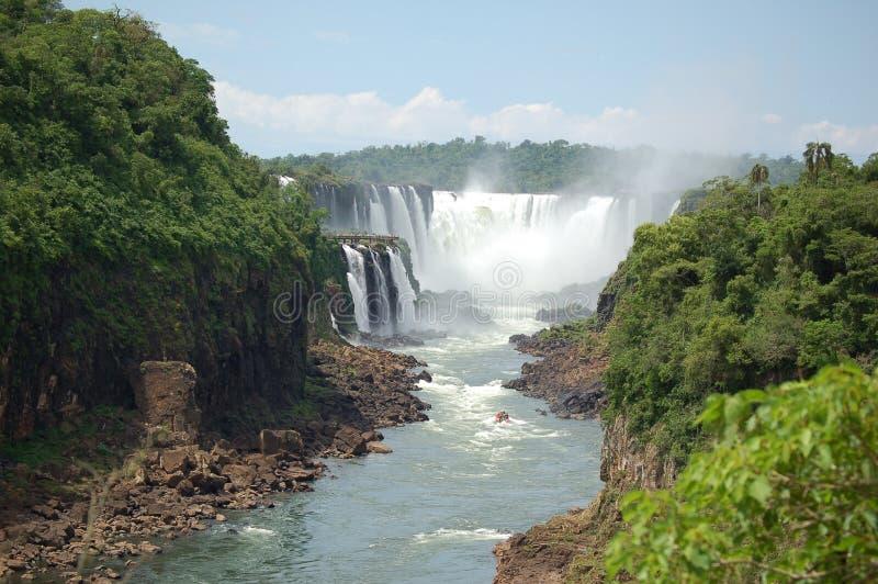 Opinión panorámica de la garganta de Devil´s, Iguazu imagenes de archivo