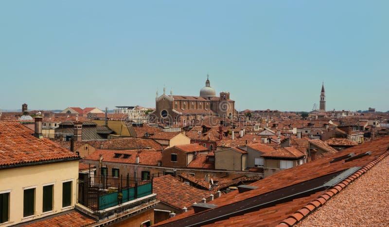 Opinión panorámica hermosa sobre Venecia del top imagenes de archivo
