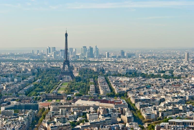 Opinión panorámica sobre el viaje Eiffel y la defensa del La, Pari imagenes de archivo
