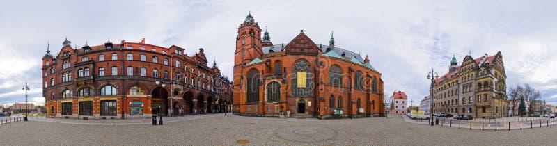 Opinión panorámica sobre Legnica - Polonia fotos de archivo