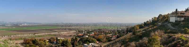 Opinión pintoresca del valle del lagar de Carmel imagen de archivo libre de regalías