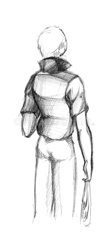 Opinión posterior del hombre libre illustration