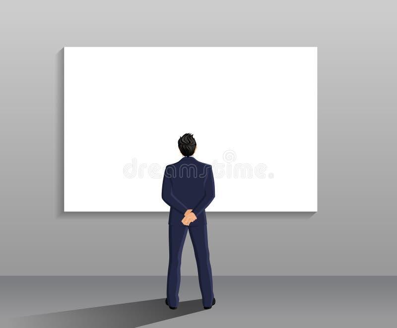 Opinión posterior del hombre de negocios libre illustration