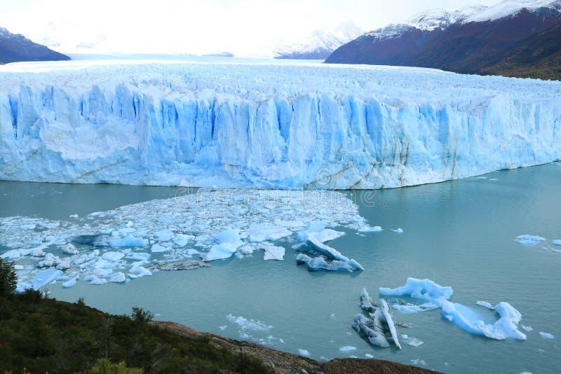 Opinión que sorprende Perito Moreno Glacie, lago Agentino, parque nacional del Los Glaciares, EL Calafate, Patagonia, la Argentin fotografía de archivo libre de regalías