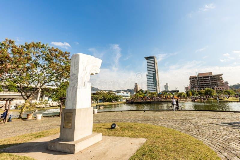 Opinión Ramiro Park Blumenau, Santa Catarina fotos de archivo libres de regalías