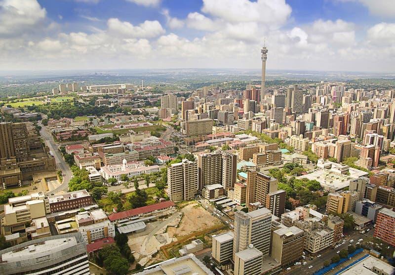 Opinión regional del horizonte de Johannesburgo fotos de archivo libres de regalías