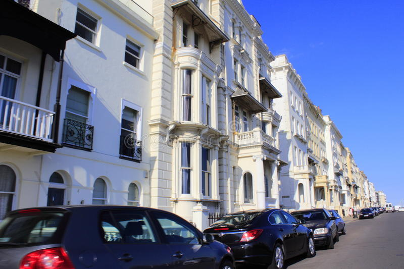 Opinión Reino Unido de la calle de Hastings imagenes de archivo